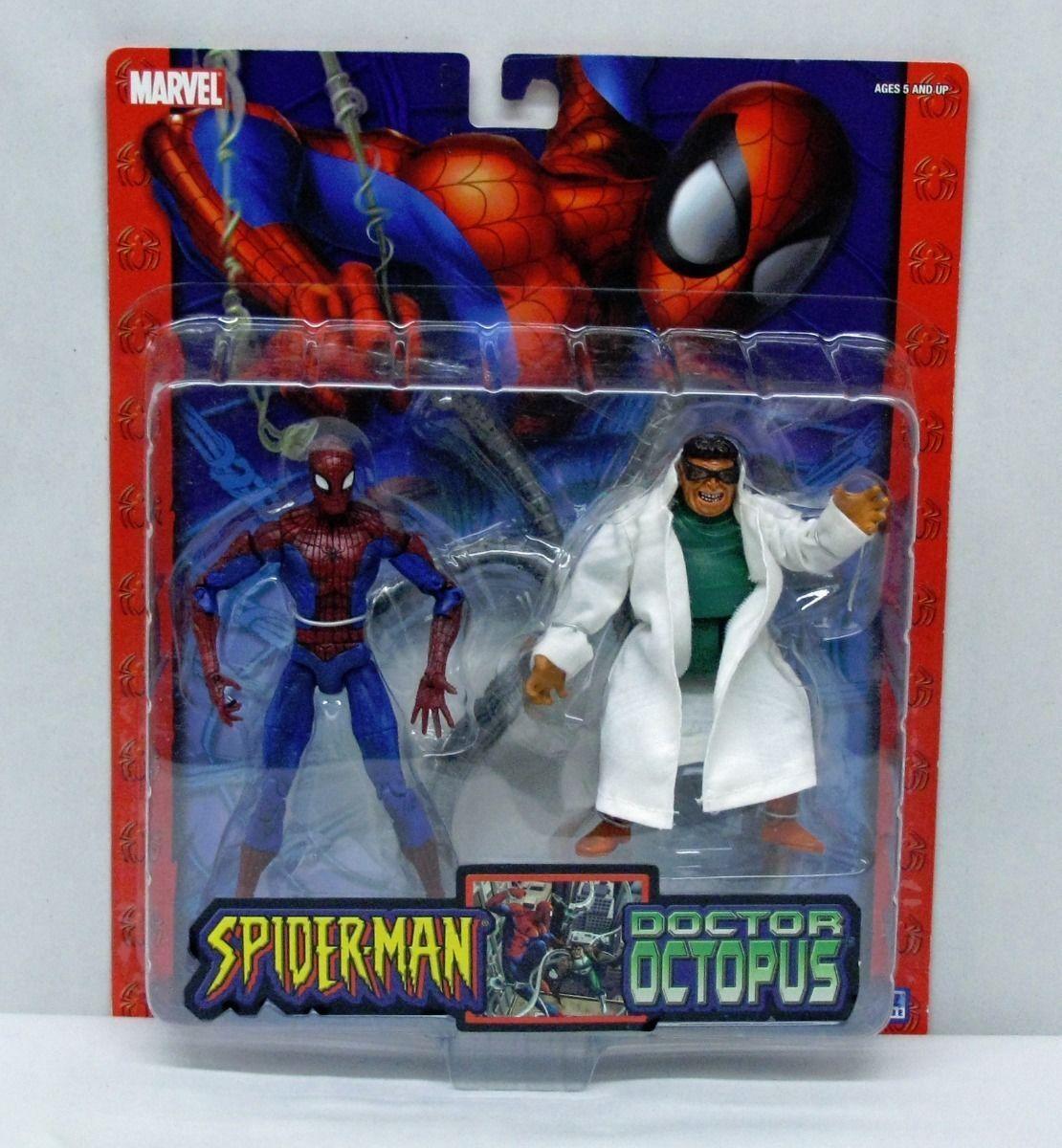 spider - man  zwei action - figur hat spider - man - doktor oktopus toybiz 2004 s158-9