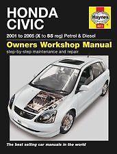 haynes honda civic 01 05 workshop repair book manual 4611 condtion rh ebay co uk honda civic user manual 2009 honda civic user manual 2017