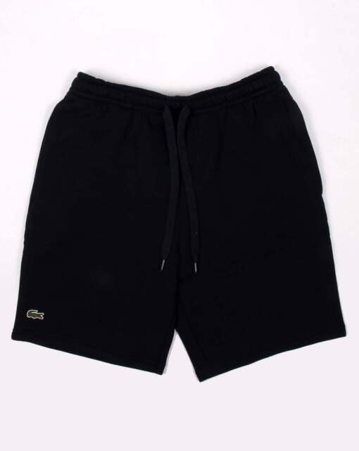 96a60831786a2c Lacoste Sport Rear Pocket Fleece Shorts in Navy Blue - soft cotton blend