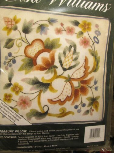 Floral Styles Elsa Williams Crewel Embroidery Pillow Kit Your Choice-Jacobean