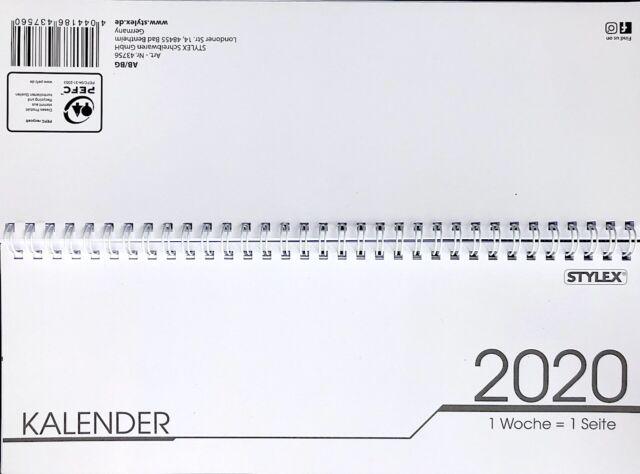 Stylex Taschen DIN A7 Taschenkalender Kalender 2020 Termine div Farben 128 Seite
