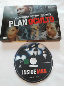 Plan-Occulto-DVD-Steelbook-Spagnolo-English-Denzel-Washing-Jodie-Foster-Owen