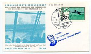 1974 Hermann Oberth Gesellschaft Weltraums Feucht Geburtstag Bausteinkarte Nr.95 Emballage De Marque NomméE