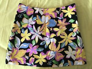 Skirt-Mini-Nana-Brand-Floral-Flower-Print-NWT-Sz12-small-fit