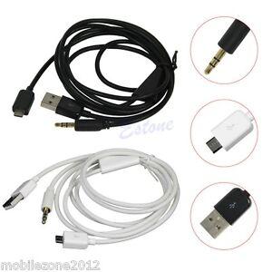 micro to jack usb audio cable samsung galaxy s6 s4 s3 s5 mini aux car lead ebay. Black Bedroom Furniture Sets. Home Design Ideas