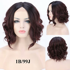 Real Natural Short Bob Lace Front Wigs Women Ombre Curly Wavy Synthetic Hair Wig