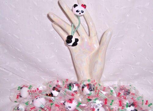 PARTY GIFTS ELASTIC BAND PONYTAIL HOLDER PANDA BEAR AVON LOT 24 PC HOLIDAY