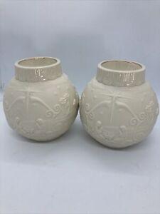 Two Lenox Nativity Scene Bisque Ceramic Tea Light Candle Holder(Ornamental Glow)