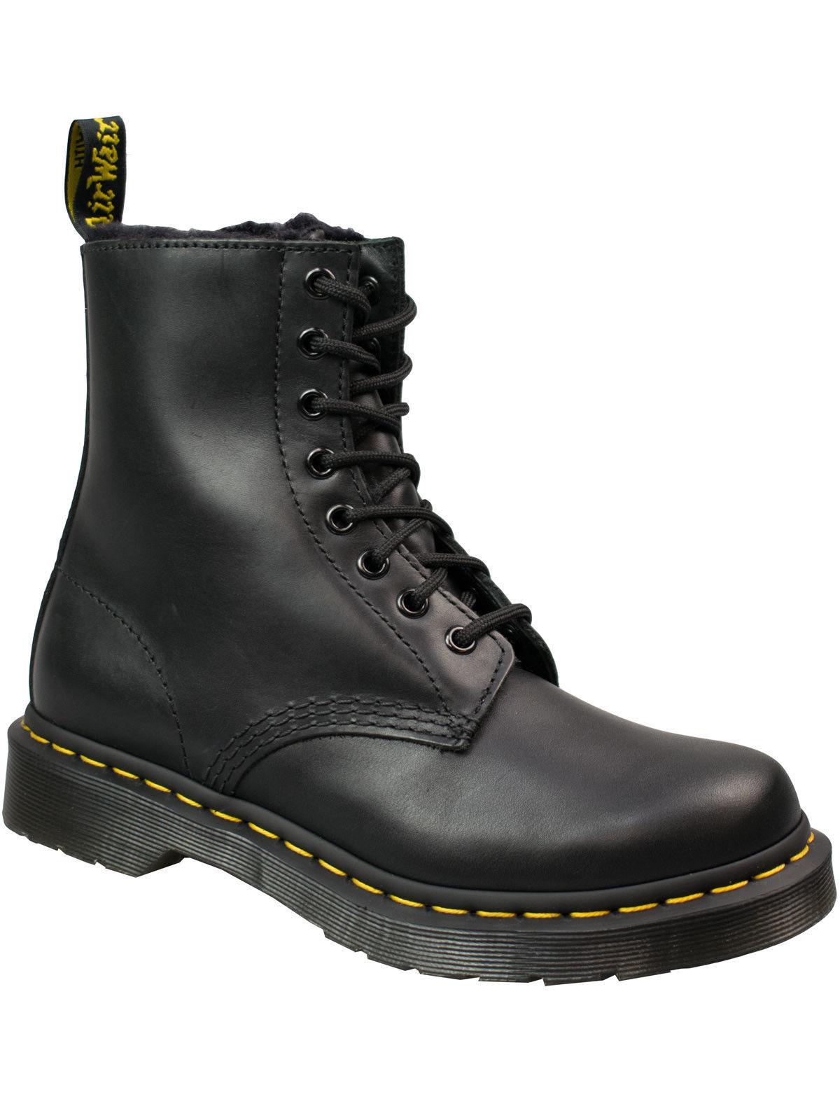Dr. Martens botas doc serena botas de invierno negro forrado