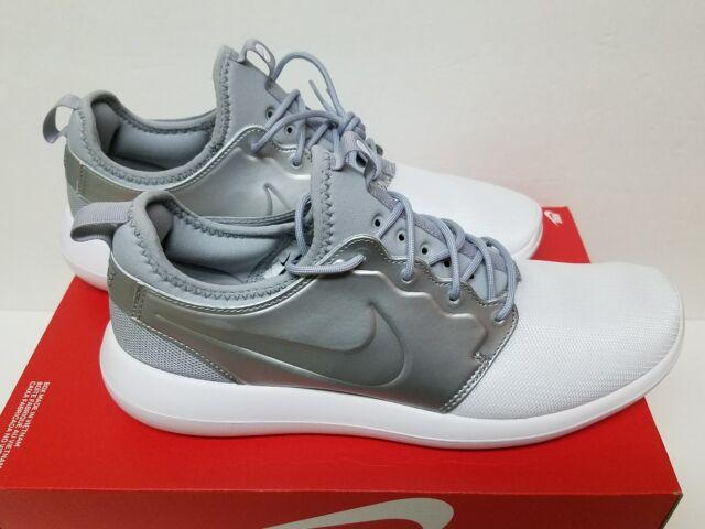 the best attitude ff4f8 81a3b Nike Roshe Two 2 Rosherun Size 9.5 Metallic Silver Men Running Shoes  844656-100