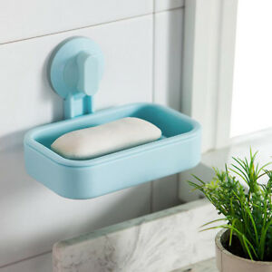 Plastic Suction Cup Stainless Steel Bathroom Shower Soap Holder Dish Rack