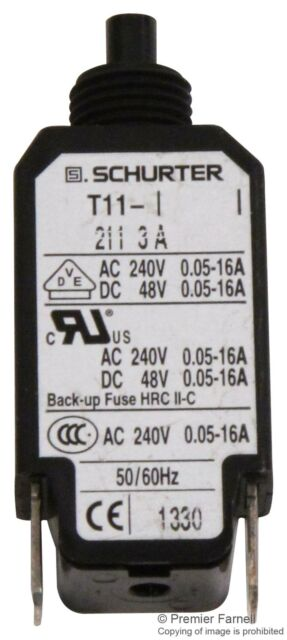 T11 211 12A 12A CIRCUIT BREAKER SCHURTER T11