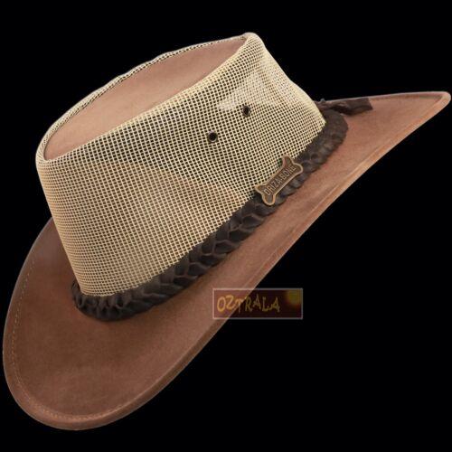 d114d3f79ce 6 of 7 ○oZtrALa○ Driza-Bone Jacaru Hat Pu-Suede Leather Mesh Felt Men Cowboy