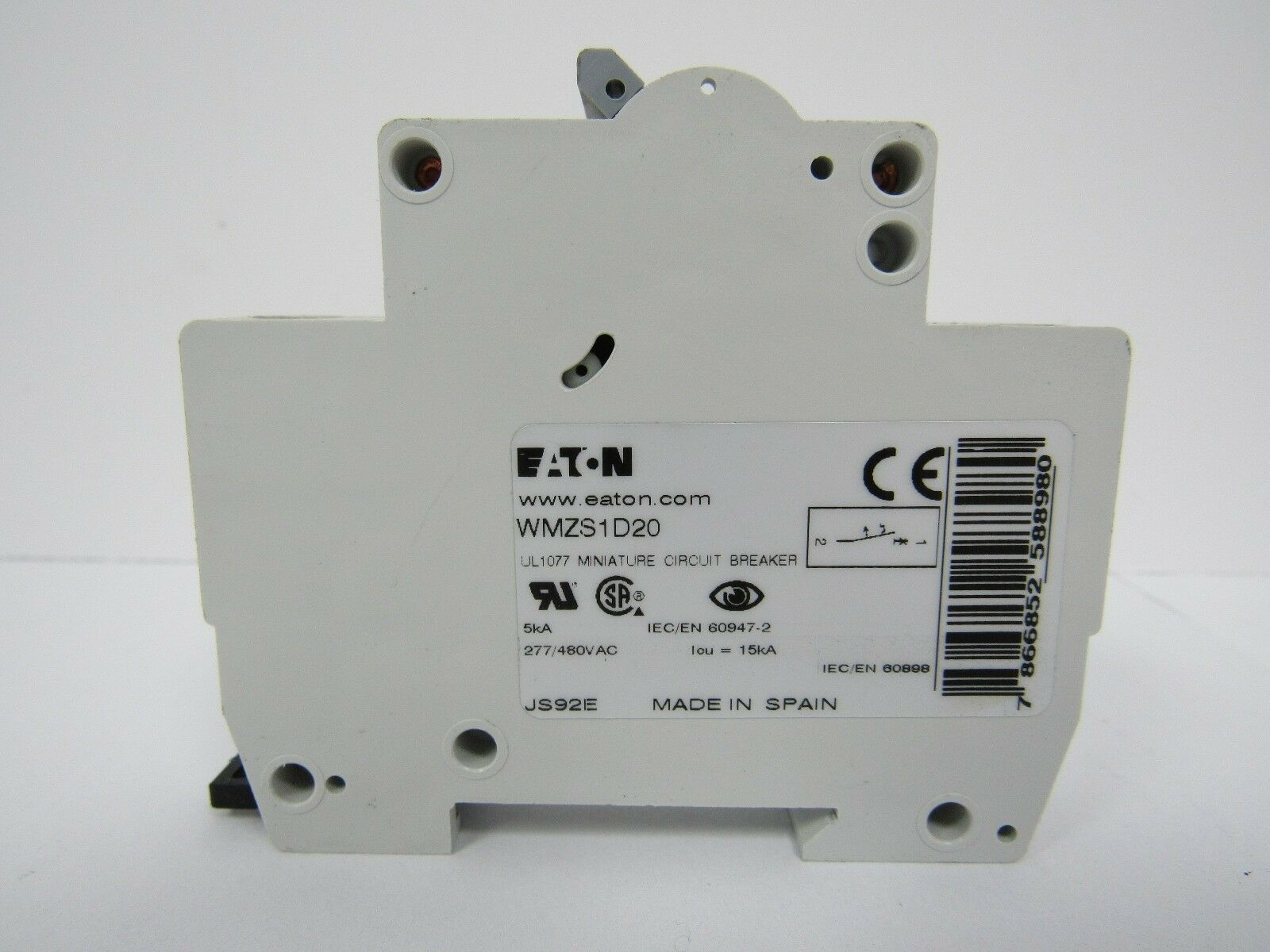 Eaton Miniature Circuit Breaker Wmzs1d20 20a 277 480vac Ebay Power 16 Amp Wifi Use