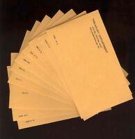 1955 - 1964 U.s. Proof Set Envelopes No Coins