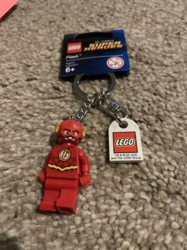 Lego DC Super Heroes Flash Keychain Keyring 853454 New Tag
