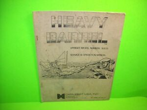 Data East Heavy Barrel Original Video Arcade Game Service Operational Manual Agreeable Sweetness Arcade, Jukeboxes & Pinball