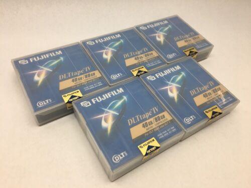 Lot of 5 Fujifilm DLTtape IV 40/80GB Data Cartridges DLT FB TK88New