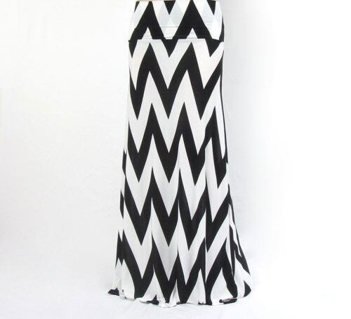 TALL WAVE MAXI SKIRT STRIPED WOMEN LONG FREE WRAP WHITE BLACK SIZE 4 6 8 10 UK