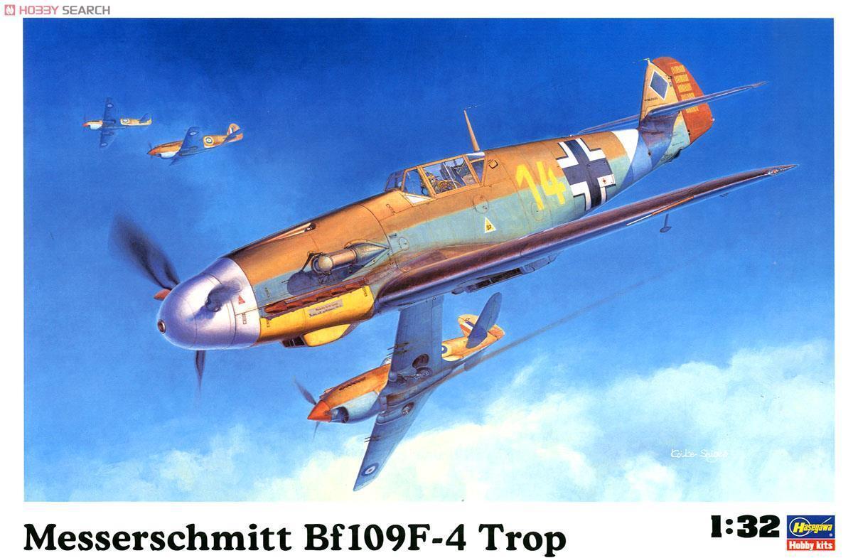 1 32 Hasegawa Messerschmitt Bf 109F-4 Trop