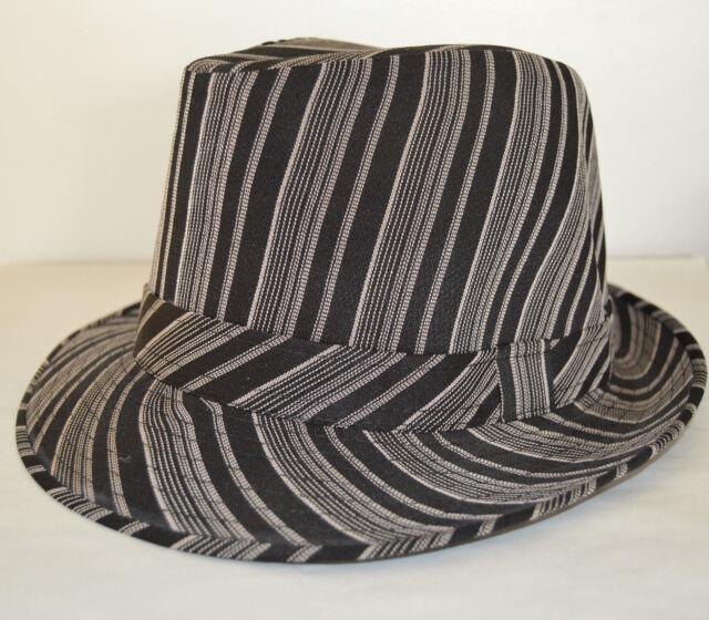 Men's Cuban Style Fedora Trilby Hat Panama Short Brim Cap Sunhat Black Beige