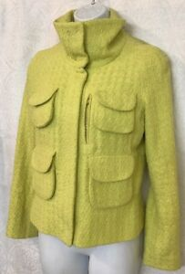 si Jacket 4 ma adatta seta 6 taglia Yellow come Tweed Tuleh in scatta dice foderato qwFac0
