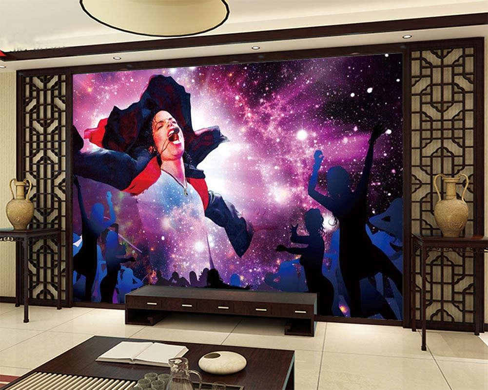 Under The Sky Singing 3D Full Wall Mural Photo Wallpaper Print Home Kids Decor