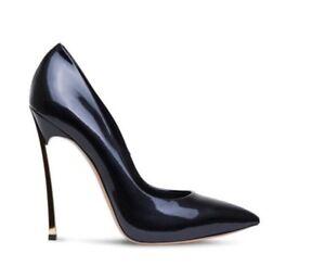 decolte kim kardashian 12 cm stiletto alti curvato eleganti nero s simil pelle