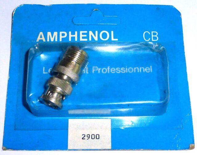 Type UHF : adaptateur UHF femelle vers BNC mâle - AMPHENOL