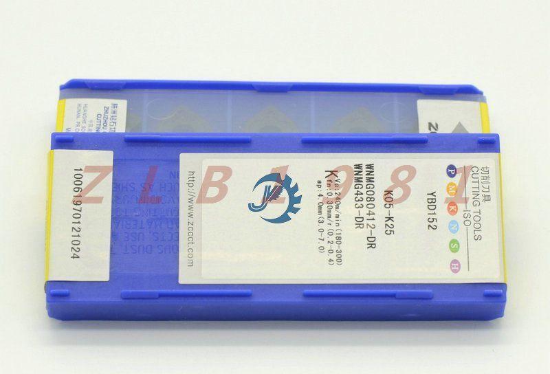 10PCS NEW- ZCCCT CNC Blade WNMG080412-DR YBD152