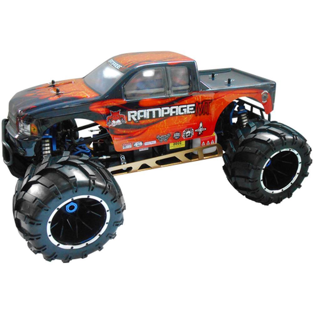Nuevo rojocat Racing Rampage Mt V3 1 5 escala camión monstruo camión naranja de Gas Llama