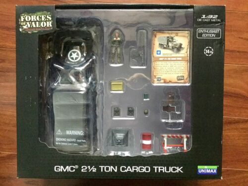 Army GMC 2-1//2 Ton Cargo Truck Item # 80085 F//S Forces of Valor 1//32 WW II  U.S