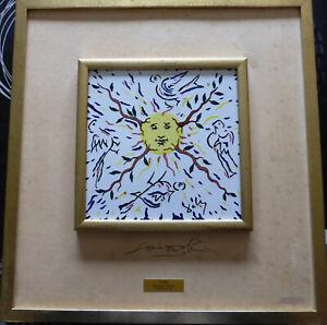 Keramiek Salvator Dali **  Vol de colombes autours du Soleil Radieux