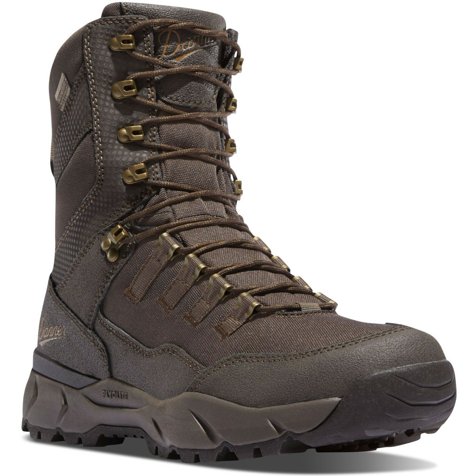 Danner Men's 41550 Vital 8  Brown Waterproof Leather Cushioned Dry Hunting Boots