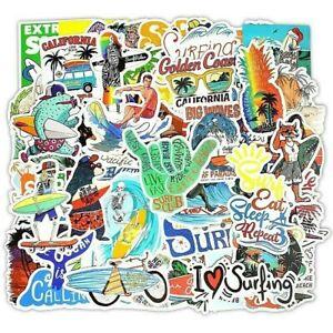 Surf-Pegatina-Lote-50-piezas-paquete-de-movimiento-local-para-Tabla-de-Surf-Laptop-Equipaje-De-La