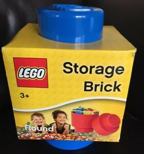 BRAND-NEW-Official-Lego-Round-Stackable-Storage-Brick-With-1-Knob-Blue