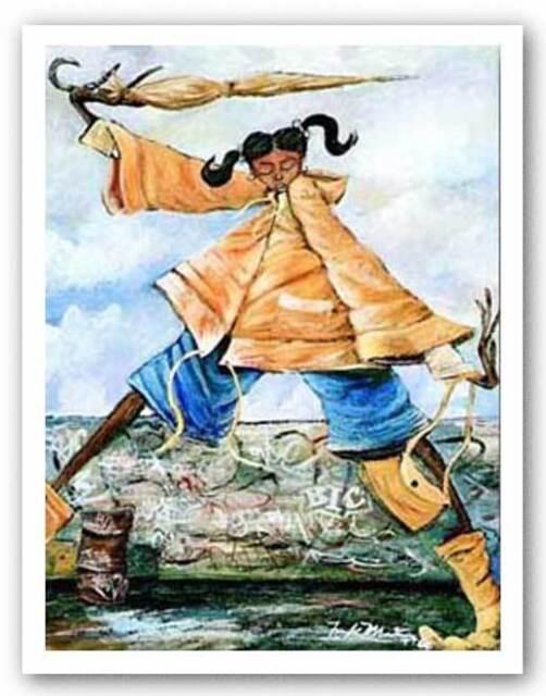 AFRICAN AMERICAN ART PRINT Rain Drops Frank Morrison 6x8