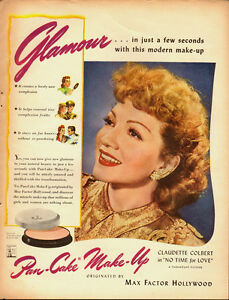 1942-Vintage-ad-for-Pan-Cake-Make-Up-Claudette-Colbert-Actress-031914