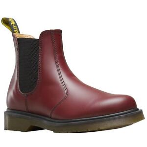 Details about Dr.Martens 2976 Cherry Red Womens Leather Slip On Ankle Chelsea Boots