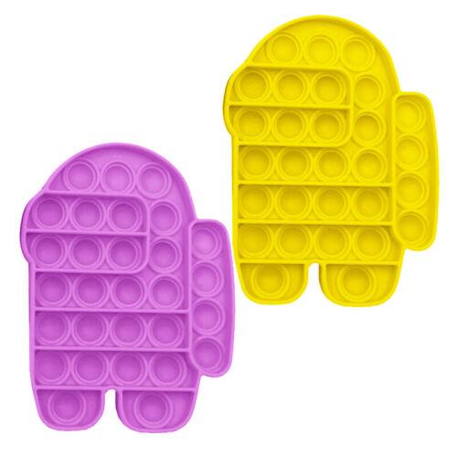 Push Pop Bubble Special Needs Silent Sensory Fidget Autism Kids Classroom Toy UK