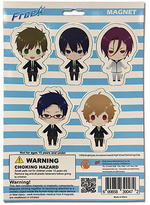 Iwatobi Swim Club Group SD Swim Suit Sticker Set Puzzle Anime Manga NEW Free!