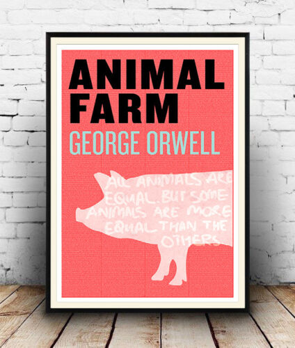 see description Poster . Animal Farm :  Words related to the book  artwork