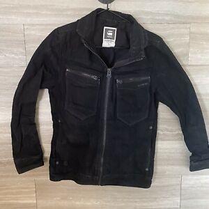 G-Star-Raw-Citishield-Denim-Jacket-Black-Size-M-Zip-Front