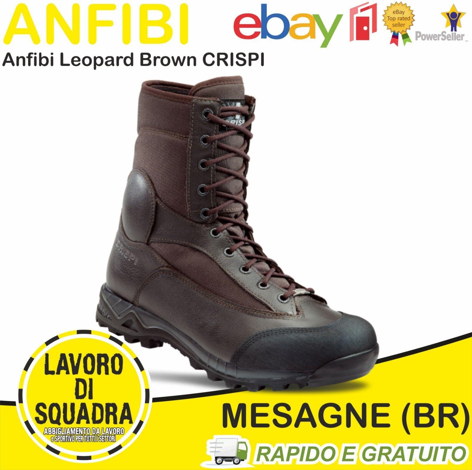 Anfibi CRISPI LEOPARD Marroni in Militari Estivi con Suola in Marroni Vibram Trekking 4a6581