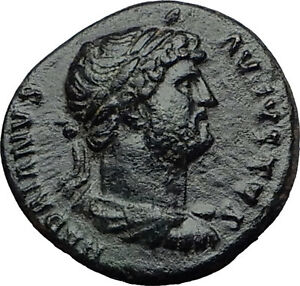 HADRIAN-Rare-Quadrans-Semis-124AD-Rome-ROMA-Authentic-Ancient-ROman-Coin-i60652