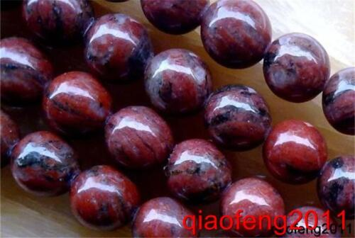"Nature 8 mm Rouge Jasper Perles Rondes Gemme 15/""/' # QF485"