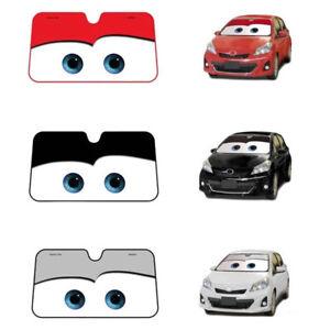 Cute Aluminium Cartoon Car Windshield Sun Shade Big Eyes Cars Front ... 4ad37dd5549