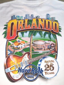 Hard-Rock-Cafe-ORLANDO-1990-2015-SHIRT-25th-Anniversary-Rockin-039-for-25-Years-XL