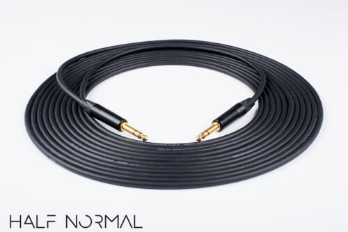"20/' Mogami 2549 Standard Balanced Neutrik Gold 1//4/"" TRS to 1//4/"" TRS Black"