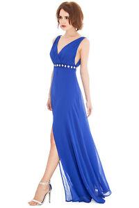 Goddiva-Front-Split-V-Neck-Embellished-Evening-Dress